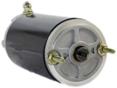 NEW 12V HIGH TORQUE SNOW PLOW ANGLE PUMP MOTOR FITS MEYER E47 ELECTRO TOUCH 3/16 WIDE SLOT 462001 464160 46-2415 46-854 MGL4005 MKW4007 MO551046AS SM48826 W8032B 462415 46-2001 MGL4105 MM48826 W-8032B (Motor Plow Replacement Snow)