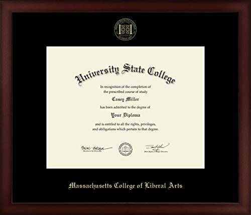 Massachusetts College of Liberal Arts - Officially Licensed - Gold Embossed Diploma Frame - Diploma Size 11