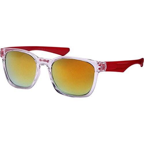 Sportive Red Coloré Wayfarer 400 Transparente Des Soleil net Cadre Lunettes De Uv Miroir Chic aqPZTwZ