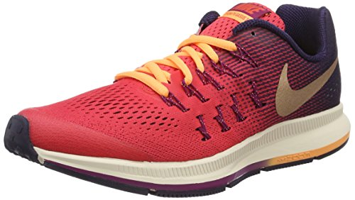 Nike Zoom Pegasus 33 (GS) Running Trainers 834317 Sneakers Shoes (6 Big Kid M, Ember Glow red Bronze 800)