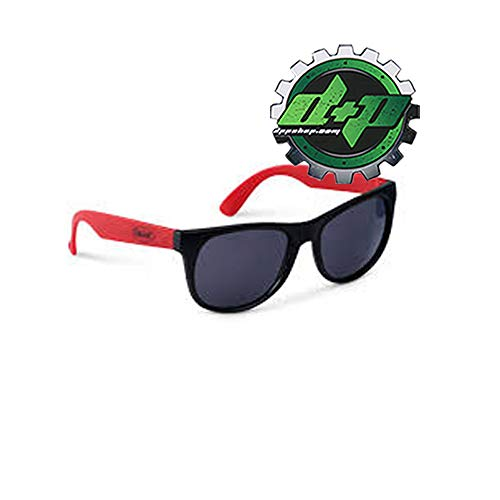 Diesel Power Plus Peterbilt Trucks Black red Rubber Sunglasses Shades Tinted Sun Glasses - Diesel Red Sunglasses