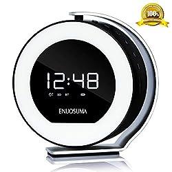 Alarm Clock Bluetooth Speaker - Zlack [Upgrade] LED Night Light Wireless SpeakerFM Radio, USB Charging Port, AUX-in, Battery Backup, Adjustable 360 Degree Rotation for Bedroom, Office, Hotel,Desk