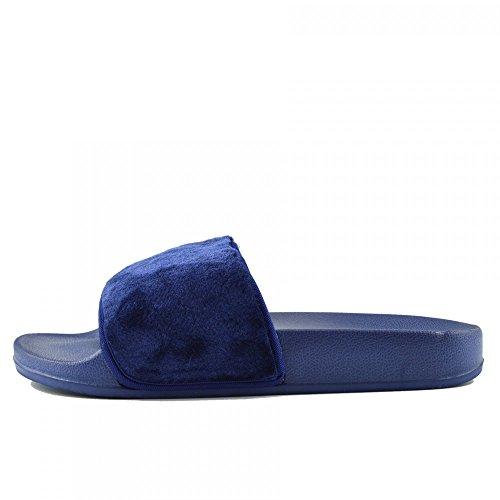 Womens Fashion Damen Licht Flip-Flops Bequemen Slip auf Sommer-Strand-Sandalen Royal Blau