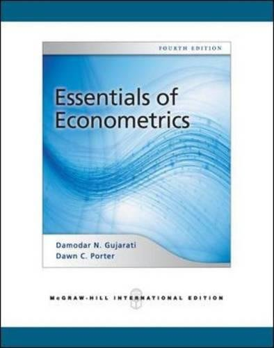 Essentials of Econometrics by Gujarati and Porter 4th edition.torrent