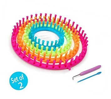 Darice 1171-58 Set of 8 Round Plastic Knitting Looms (Set of 2)
