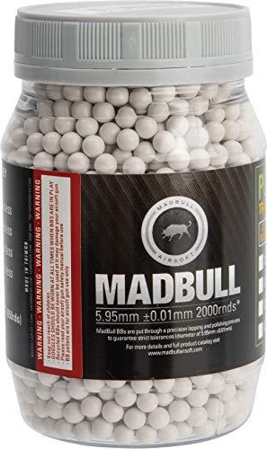 Evike MadBull Premium Match Grade Heavy Weight 6mm Airsoft Sniper BB (Model: .43g White / 2000rd Bottle)