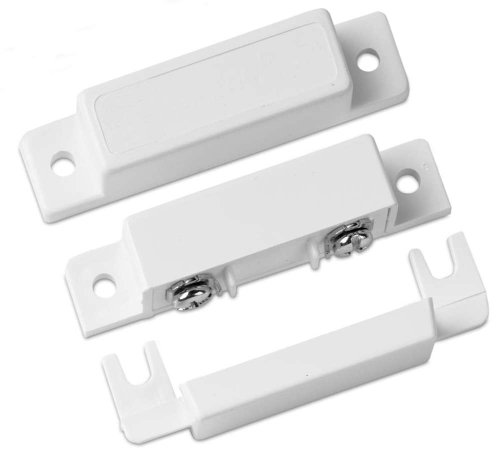GE Security 1085TWN Surface Screw Mount Terminal Contact, Closed Loop, Wide Gap, White, 1 1/2
