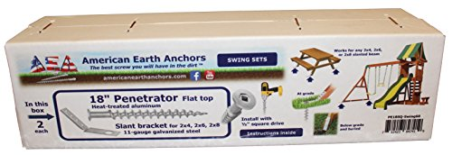 American Packing & Gasket Swing Set Earth Anchor Kit for Wooden Swing Sets and Picnic Tables