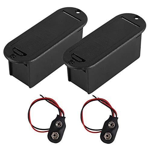 9V Battery Box Case Holder for Active Guitar Bass Pickup (Pack of 2)