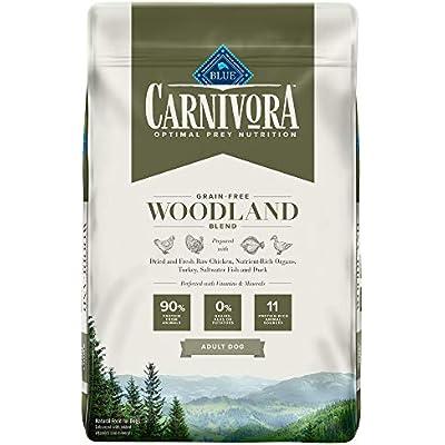 Blue Buffalo Blue Carnivora Woodland Blend Optimal Prey Nutrition High Protein, Grain Free Natural Adult Dry Dog Food