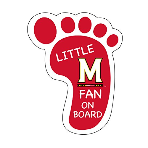 MARYLAND TERRAPINS LITTLE FAN ON BOARD DECAL STICKER-UNIVERSITY OF MARYLAND PEEL AND STICK - Peel Maryland