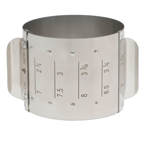 HIC Harold Import Co. 93235 Adjustable Food Ring, Square, 18/8 Stainless Steel, Adjusts to 4 Different Sizes (Food Rings Presentation)