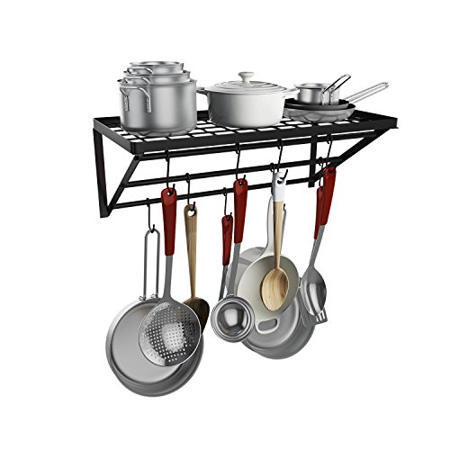 Home Kitchen Wall Mount Pot Storage Rack Pans Organizer hang