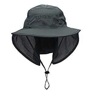 Lenikis Unisex Outdoor Activities UV Protecting Sun Hats 1026C1 Grey
