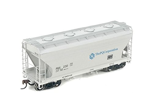 Acf Covered Hopper - Athearn HO Scale ACF 2970 Covered Hopper PQ Corpation (Gray/Blue) #230