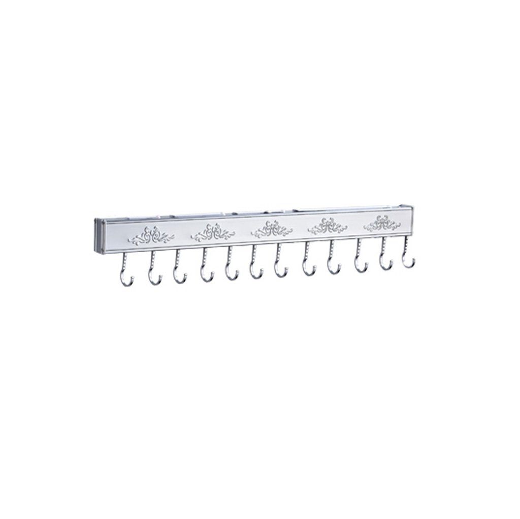 MOOLO Storage Racks Shelf Storage Rack Kitchen Spice Space Aluminum Wall-mounted Punch-free (Size : 60x3.4x5.2cm A)