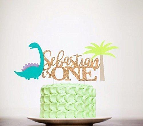 custom Glam Dino Cake Topper