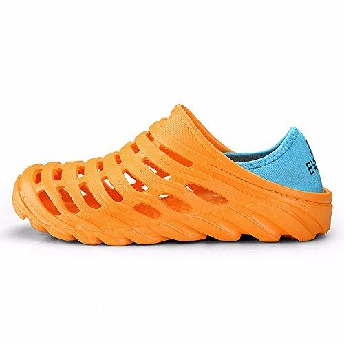 Sandali Da Uomo Marroni, Scarpe Da Acqua Ad Asciugatura Rapida, Zoccoli Da Giardino Estivo Arancio