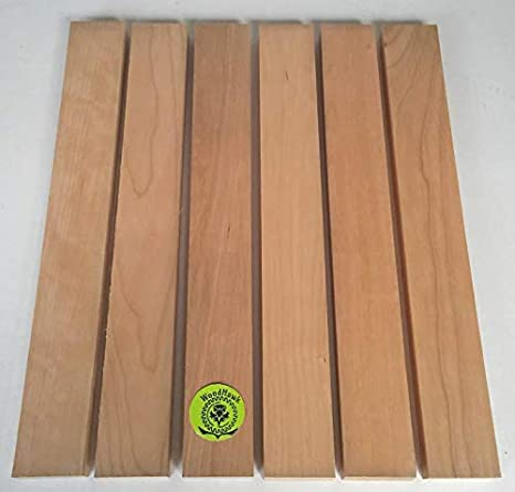 """Pack of 6 3//4/"""" x 2/"""" x 16/"""" Solid Red Oak Hardwood Lumber Made by Wood-Hawk"""