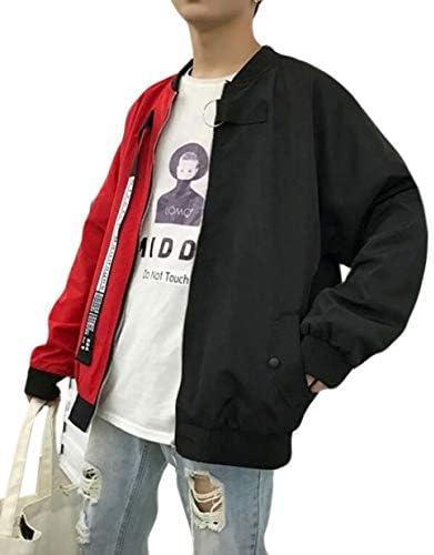 REHOODNメンズ ブルゾン コート ジャンパー カジュアル ジャケット 春 秋 メンズ トップス シンプル 長袖 コート おしゃれ アウター