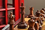The House of Staunton The Reykjavik II Series Tournament Chess Set and Tiroir Combination - Golden Rosewood and Natural Boxwood - by