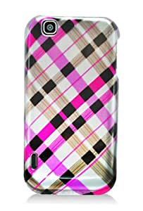 LG Maxx / myTouch Graphic Case - Pink Plaid (Package include a HandHelditems Sketch Stylus Pen)