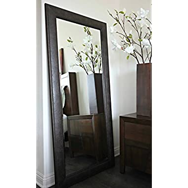 West Frames Marcello Full Floor Rustic Dark Charcoal Brown Mirror