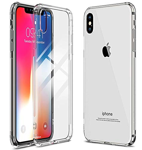 Ultra Slim Crystal Clear Soft TPU Case for iPhone Xs Max, Anti-Slip Clear Shockproof Soft Flexible Cover Compatible for 6.5 inch Xs Max (2018) (Crystal Clear)