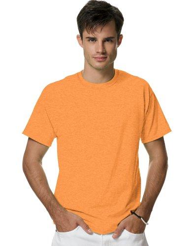 Hanes Mens X-Temp T-Shirt, 2XL, Neon Orange Hthr (T-shirt Neon Swirls)