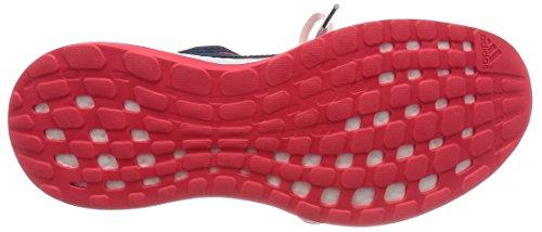 adidas Pureboost X, Chaussures de Foot Femme, Multicolore Bleu / rouge / rose / blanc (bleu minéral / bleu minéral / rose halo)