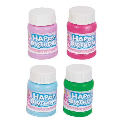 RINCO Educational Products Mini 1oz. Happy Birthday Bubbles 24/pack - Assorted Colors by RINCO Educational Products
