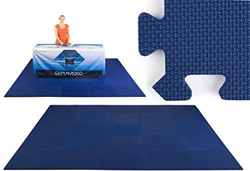 Displays2go 10 Feet by 10 Feet Trade Show Flooring, Navy Blue (TSFM10BLN) ()