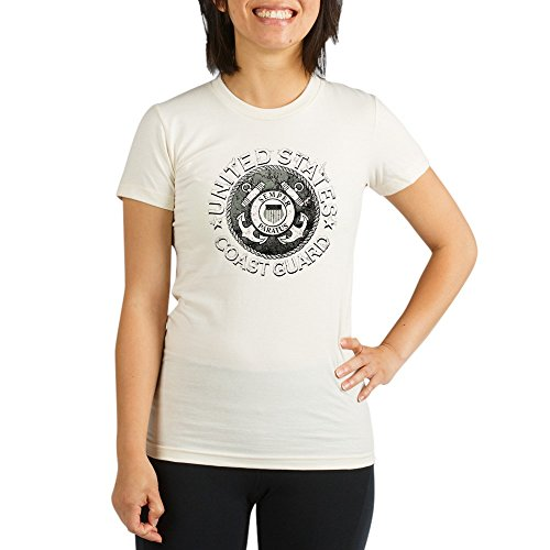 Royal Lion Organic Womens Fitted T-Shirt US Coast Guard Semper Paratus Emblem - Small - Coast Guard Fitted T-shirt