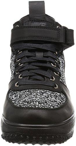 Nike Vrouwen Lf1 Flyknit Workboot Hi Top Laarzen Trainers 860.558 Sneakers Zwart / Zwart-wit-cool Grey