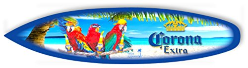 Corona Parrot Party - Mini Surfboard- Made in USA