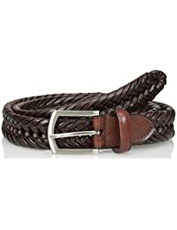 Nocona Belt Company mens Hired Brown Braided