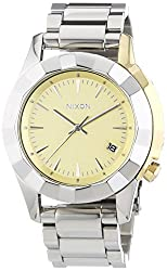 Nixon A288-1431 Ladies The Monarch Silver Light Gold Watch