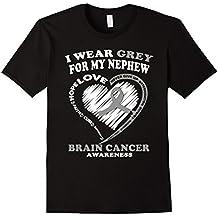 Brain Cancer T Shirt - I Wear Grey For My Nephew