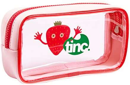 Tinc – npvcstpk fresas/PVC), diseño rectangular transparente estuche de neopreno con cremallera resistente/único compartimento grande: Amazon.es: Oficina y papelería