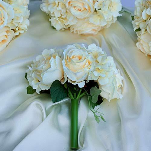 Mikash Silk Roses and Hydrangea Flowers Bouquets Wedding Centerpieces Decorations Sale   Model WDDNGDCRTN - 3390   4 -