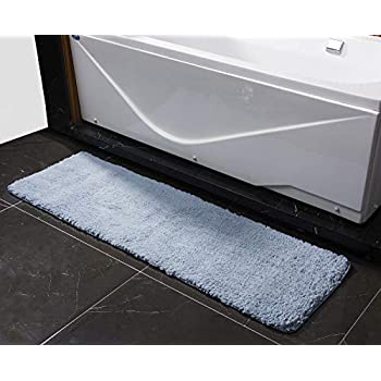 Amazon Com Soft Microfiber Long Bath Rug Non Slip