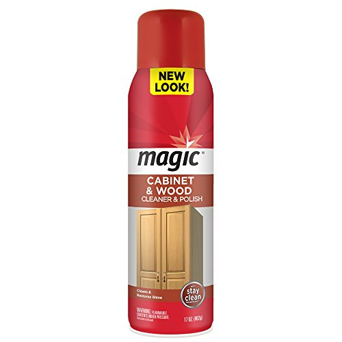 Magic Cabinet & Wood Cleaner & Polish Aerosol Spray, 17 oz (Aerosol Spray Cleaner)