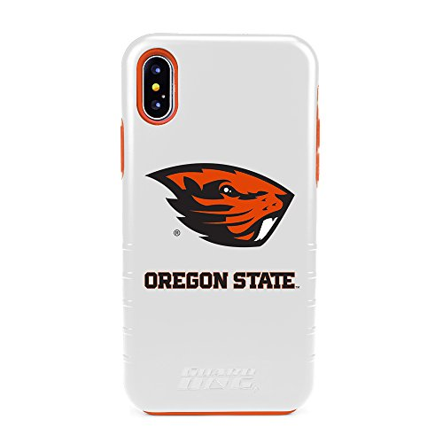 Hybrid Case for iPhone X - White (Case Oregon State Beavers)