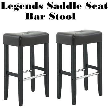Amazon Com Legends Modern Upholstered 30 Quot Saddle Seat Bar