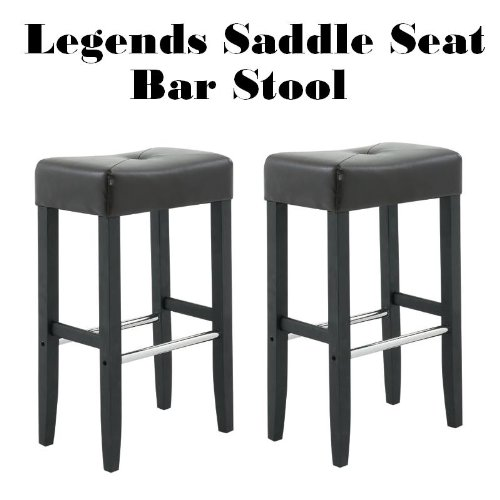 Amazon.com Legends Modern Upholstered 30  Saddle Seat Bar Stools - Set of 2 (Brown) Kitchen u0026 Dining  sc 1 st  Amazon.com & Amazon.com: Legends Modern Upholstered 30