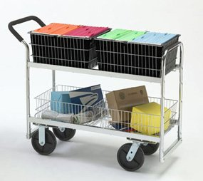 Charnstrom Long Wire-Basket Cart with 8-Inch Casters (M287)