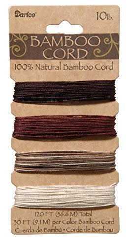 - DARICE 1936-94 10-Pound Bamboo Cord Set, 0.5mm, 120-Feet, Earthy, Assorted