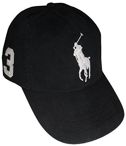 RALPH LAUREN Polo Men Adjustable Pony Logo Hat (One Size, (Ralph Lauren Designer Hat)