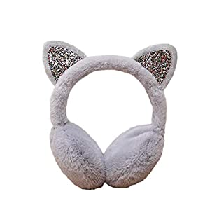 Women's Winter Warm Cat Ear Muffs Cute Catear Earmuff For Girls Fluffy Women Womens Headband Faux Fur Outdoor Earmuffs