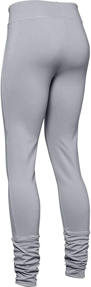 //White Under Armour Girls Girl ColdGear Leggings Youth Small 011 Mod Gray